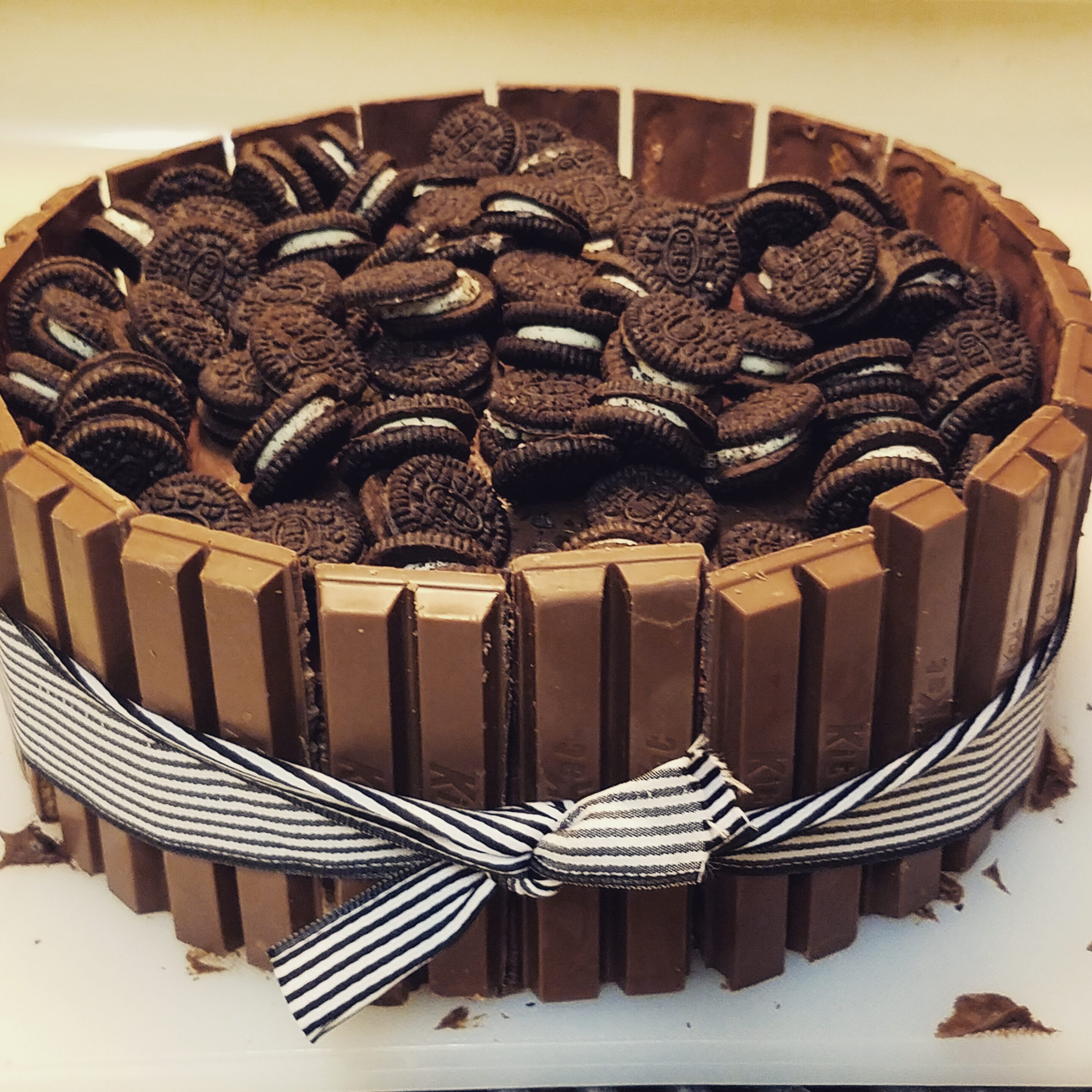 Delicious Kit Kat and Oreo Cake