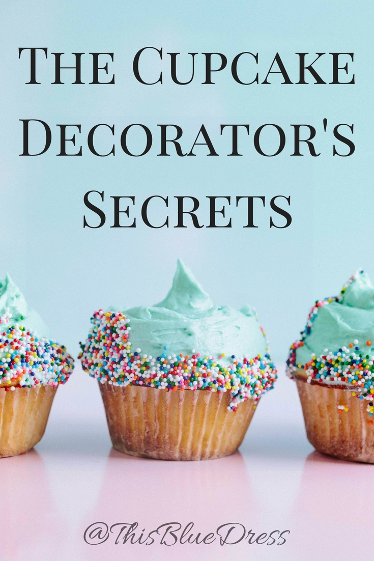 Cupcake Decorator's Secrets with blue cupcake picture
