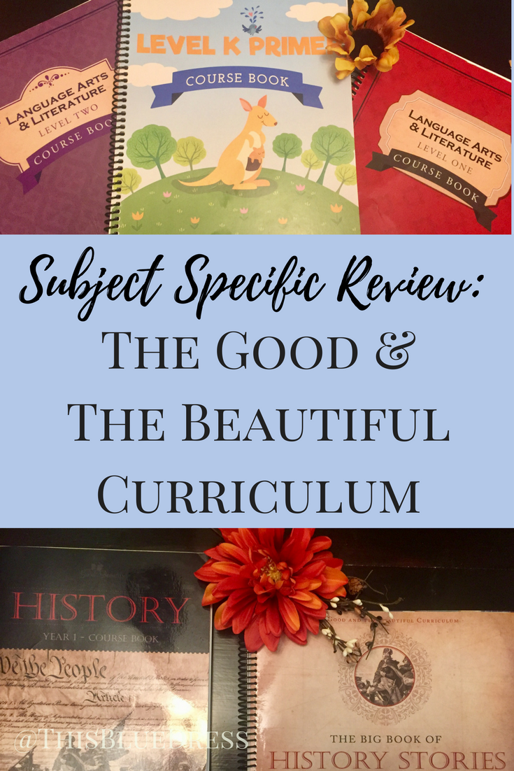 Subject Specific Review from The Good and The Beautiful Curriculum