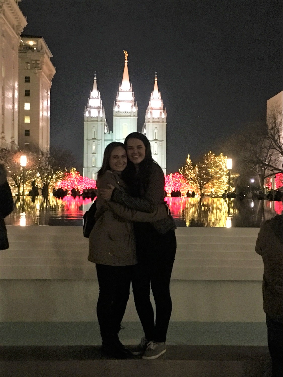 Madison and friends at the Temple Square Christmas Lights