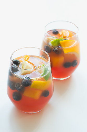 Non alcoholic sangria from Simple Vegan Blog