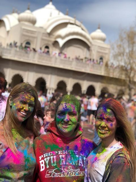 Holi Festival of Colors after picture