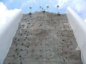 Climbing wall on the Enchantment of the Seas