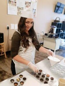 Tara the master chocolate maker