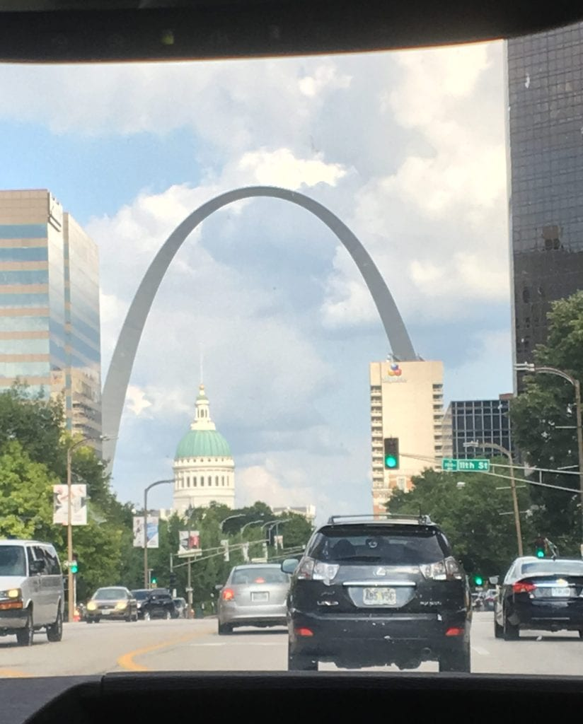 Our airbnb for our family reunion was in the perfect location downtown near the St. Louis arch!
