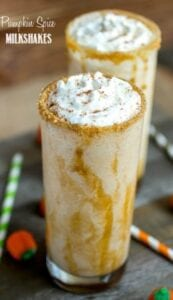 Pumpkin Spice Milkshakes from Sprinkle Some Sugar