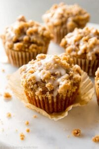 Pumpkin Crumb Muffins from Sally's Baking Addiction