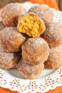 Baked Pumpkin Donut Holes from Live Well Bake Often