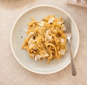 Pumpkin Fettuccine Alfredo from Cookie and Kate