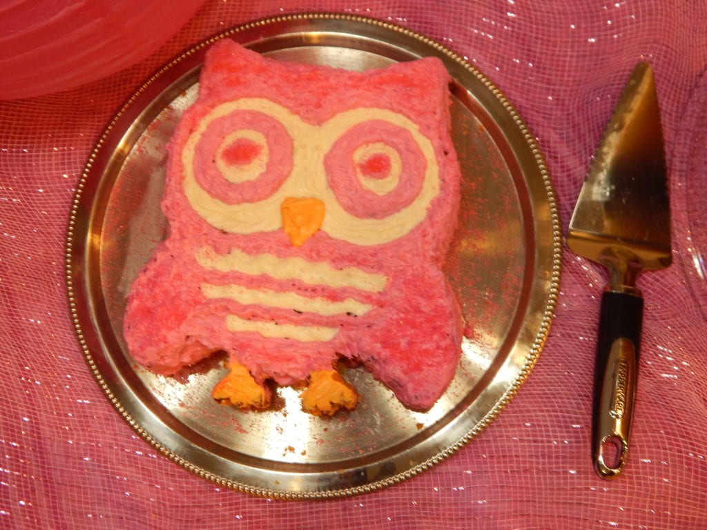 The perfect cake for an owl-themed birthday party