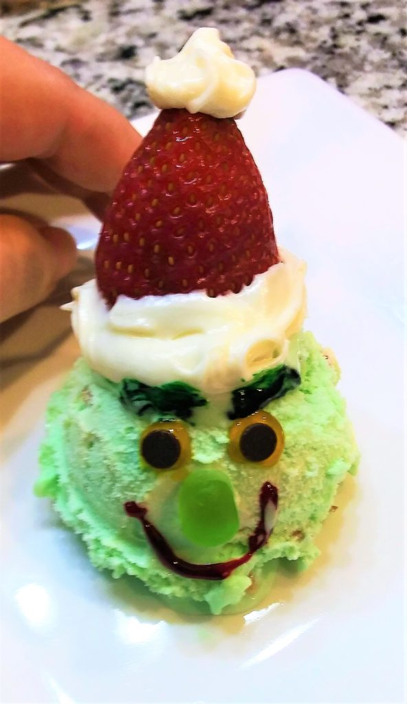 ice cream santa Grinch style