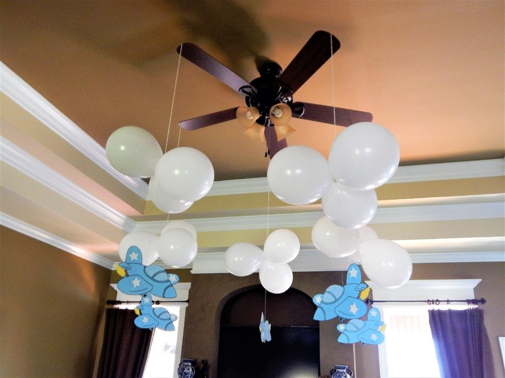 airplane baby shower decorating ideas